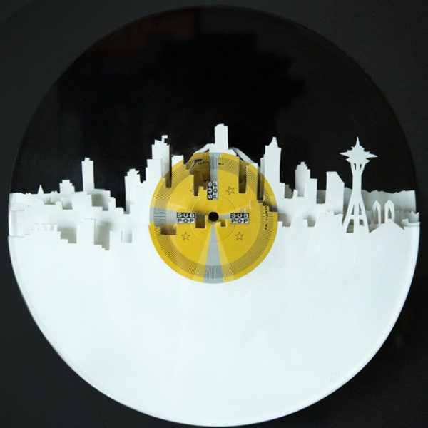 Skylinyl : Vinyl Record Artwork